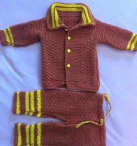 Вязанный костюм 9-20 месяцев