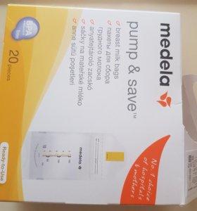 Пакеты одноразовые Medela для грудного молока