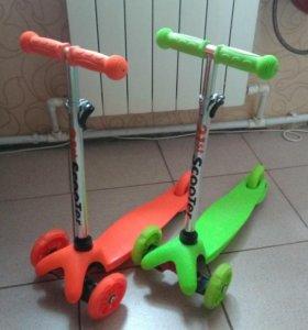 Самокат оранжевый Scooter mini