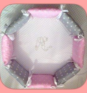 Бортики для круглых ( овальных ) кроваток