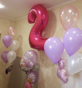 Воздушные и гелиевые шары.Оформление праздников.