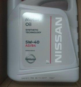 Моторное масло ниссан 5W40