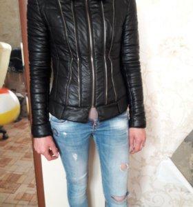 Куртка женская к/з мех натуральный 42-44р