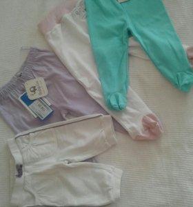 Новые пакетом ползунки и штанишки