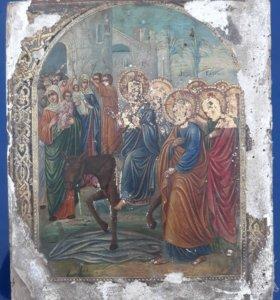 Вход Иисуса в Иерусалим. Икона
