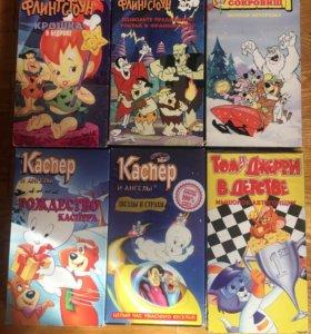 Видеокассеты VHS с мультфильмами ЕА