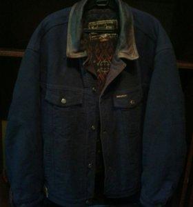 Куртка муж джинсовая.