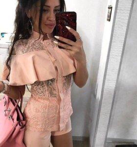 Костюм блузка+шорты