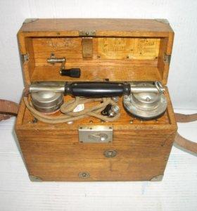 Полевой телефон Tartu Р-1-8, Эстония, 1920-е гг.