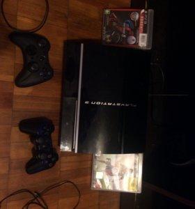 PS3 ,2 джойстика ,2 провода ,2 игры
