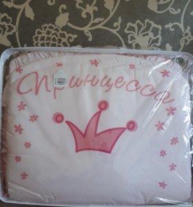 """Новый комплект в кроватку """"Растем весело"""" розовый"""