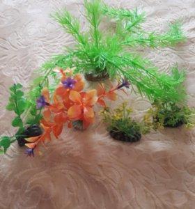 Искусственные растения  в аквариум .