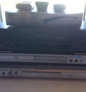 DVD плеер,Тв Приставка,Видеомагнитофон