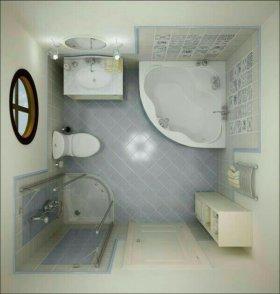 Ванная, туалет под ключ