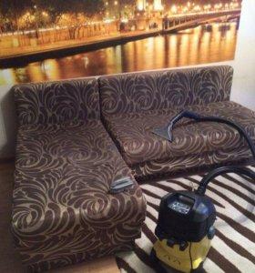 Химчистка мебели,ковров на дом.
