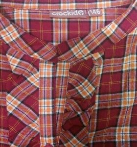 Блузка -рубашка на девочку Crockid р.146
