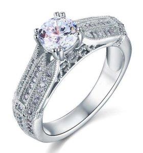 """Изысканное кольцо """"Мечта"""". Серебро."""