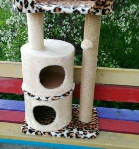 Домик для кошки двойной когтеточка лежанка