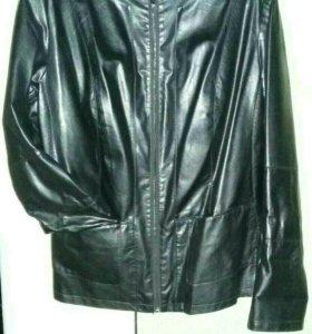 Куртка кожанная женская р.56