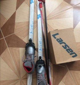 Лыжи с ботинками Larsen