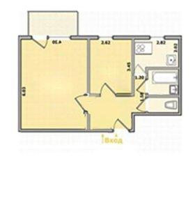 Квартира, 2 комнаты, 38.8 м²