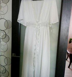 Длинное летнее пляжное платье