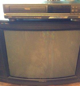 Телевизор + видеомагнитофон