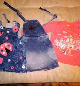 Одежда в отличном состоянии на девочку 2-3 года