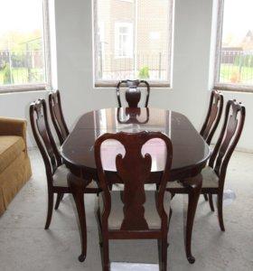 Шикарный кухонный комплект, стол со стульями