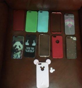Много чехлов на iPhone 6-6s