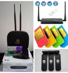 Комплект 4g lte wifi интернета