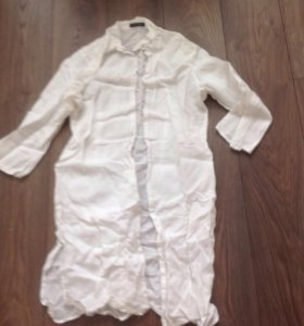Льняная рубашка-туника