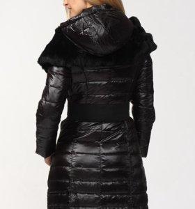 Новый зимний женский пуховик с отделкой из меха