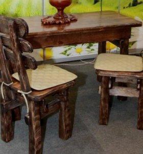 Столы стулья из массива .
