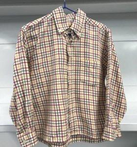 Рубашка в клетку на мальчика 4-5 лет.