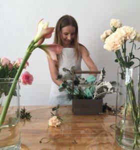 Флорист декоратор оформитель дизайнер на праздник