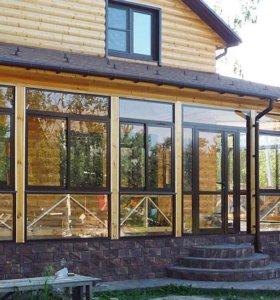 Окна , двери , балконы , пластиковые алюминиевые