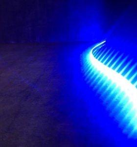 Голубая клеящаяся светодиодная лента для компьютер