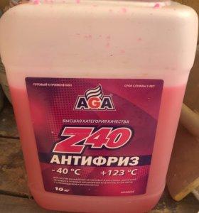 Антифриз 10л AGA Z40(красный)