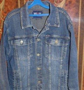Мужская джинсовая куртка ветровка 46-48