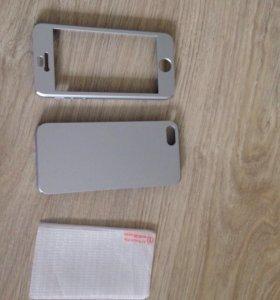 Новый чехол айфона с защитным стеклом