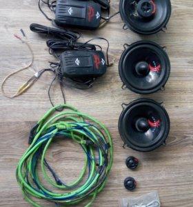 Собуфер активный провода,колонки4 штуки