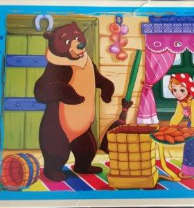 """Пазл-24 """"Маша и медведь"""""""