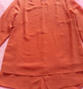 Легкая блуза четверть рукав