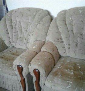 Продам диван и два кресло кровать в отличном сост