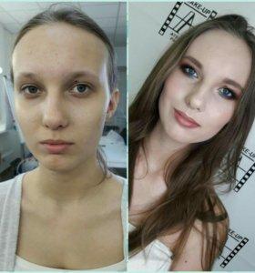 Прически, макияж на выпускной