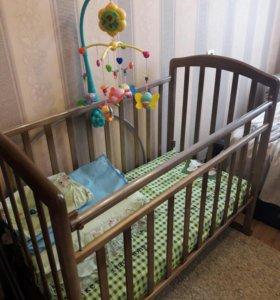 Детская кроватка+ матрас в идеальном состоянии!