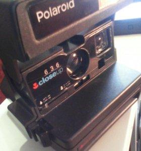 Раритетный фотоаппарат Polaroid с моментальной печ