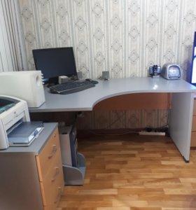 стол компьютерный с тумбой