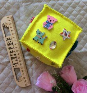 Развивающий куб ручной работы для детей